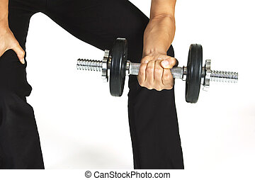 Wrist Curl - A female fitness instructor demonstrates a...
