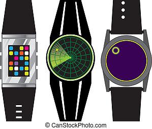 Wrist Device - wrist device vector illustration clip-art eps