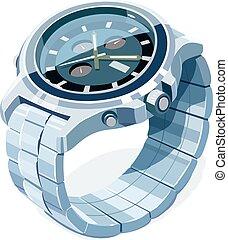 Wrist mechanical watch. Personal business accessory