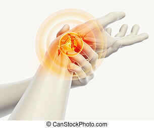 Wrist painful - skeleton x-ray. - Wrist painful - skeleton...
