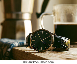 wrist watch on tabel