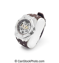 wrist watch with transparent dial