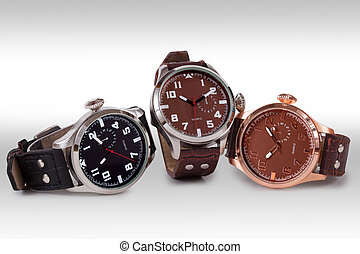 Wrist watch. - Wrist watch isolated on white background.