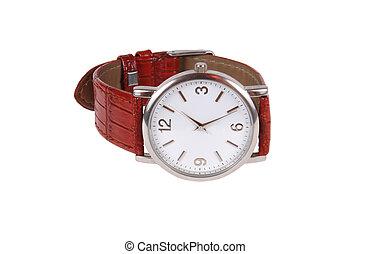 wrist watch - a wrist watch isolated on white background...