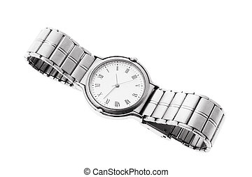 Wrist Watch on Isolated White Background