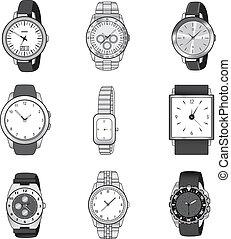 Wristwatch Elegant Collection - Nine different wristwatch ...