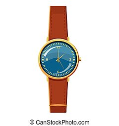 Wristwatch icon, cartoon style