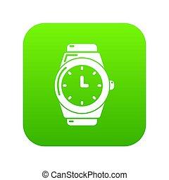 Wristwatch icon green
