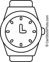 Wristwatch icon , outline style - Wristwatch icon. Outline...
