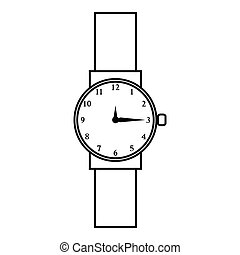Wristwatch icon, outline style