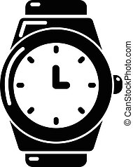 Wristwatch icon , simple style - Wristwatch icon . Simple...