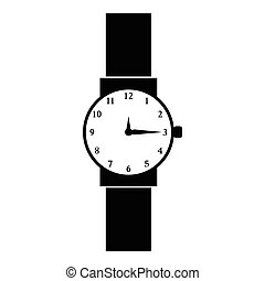 Wristwatch icon, simple style