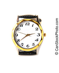 Wristwatch on a white background