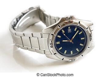 Wristwatch on a white background