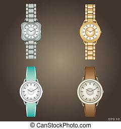 Wristwatch. vector, gradient, EPS10