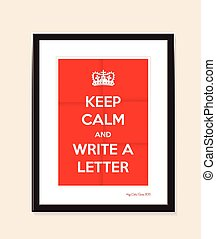 write a letter background