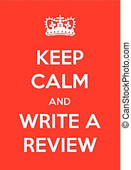 write a review background