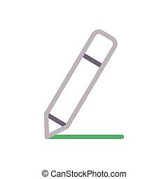 write  color line icon