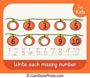 Write each missing nunber