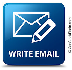 Write email blue square button