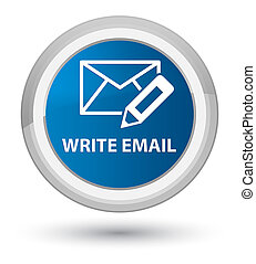 Write email prime blue round button