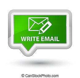 Write email prime green banner button