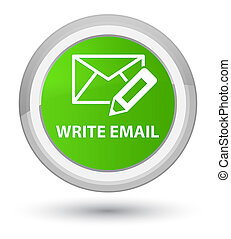 Write email prime soft green round button