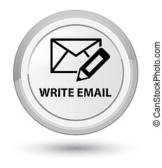 Write email prime white round button