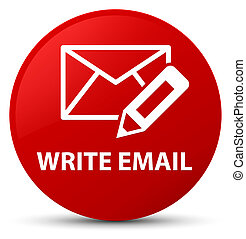 Write email red round button