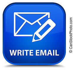 Write email special blue square button