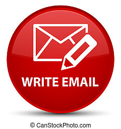 Write email special red round button