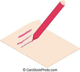 Write felt-tip pen icon, isometric 3d style - Write felt-tip...