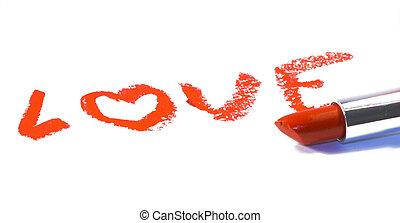 love lipstick - write love lipstick red kiss
