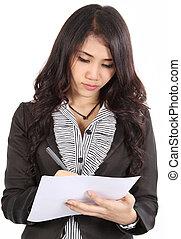 write note