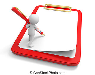 Write on board - Write,Pen,A person writing, standing on a...