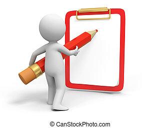 Write on board - Write, Pencil, board ,A person in writing ...