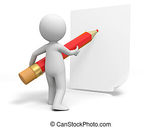 Write on paper - Write,Pencil,paper,A person in writing with...