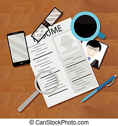 Write resume and look for job