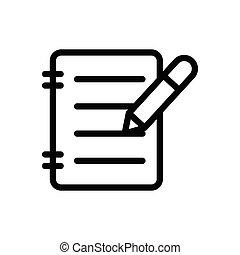 write thin line icon