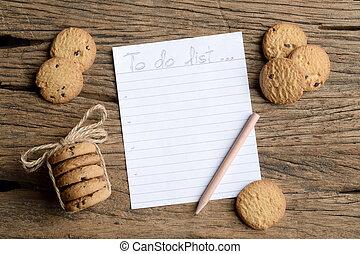 write to do list