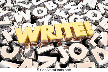 Write Word Letters Writing Ideas 3d Animation