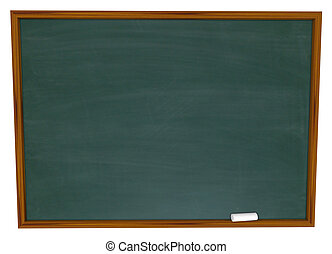 Write Your Message on Blank Chalkboard - Put Your Own Text...