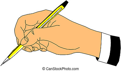 Writening hand with pen