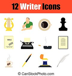 Writer icon set