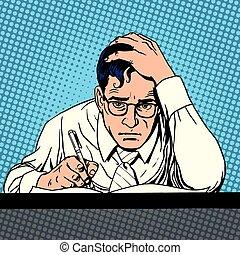 Writer journalist scientist writes. The creative process pop...