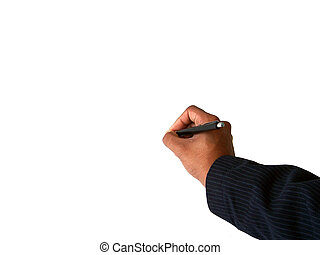 Writing 1 - Hand writing or signing