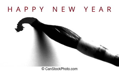 Writing 2016 with a chinese brush and thick ink - live...