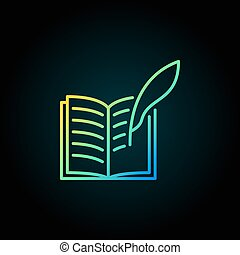 Writing a book colorful icon