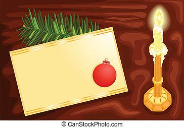 Writing a Christmas card