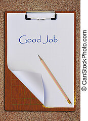 Writing board as sand background